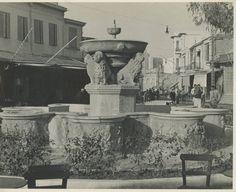 Ηράκλειο,Κρήνη Μοροζίνι (Λιοντάρια) ,δεκαετία 1930.