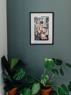 Wall Paint Inspiration, Room Inspiration, Paint Colors, Plant Leaves, Gallery Wall, Living Room, Retro, Wallpaper, Painting