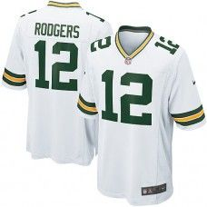 Nike Mens Green Bay Packers Aaron Rodgers Jersey 12 Game Team Color White  Packers Gear e73ce0d9f