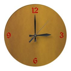 Minimalist Gold  Plain Kitchen Clocks