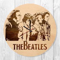 Weiteres - The Beatles wooden wall clock - ein Designerstück von TO-Design-Studio bei DaWanda