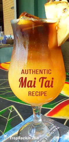 Authentic Mai Tai Cocktail Recipe This Mai Tai drink recipe is over a half century old and comes direct from Hawaii. Acholic Drinks, Rum Cocktails, Liquor Drinks, Summer Drinks, Cocktail Drinks, Party Drinks, Hawaiian Cocktails, Best Drinks, Mixed Alcoholic Drinks