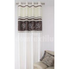 Krémový záves s béžovým vzorom - domtextilu. Ornament, Curtains, Shower, Home Decor, Rain Shower Heads, Decoration, Blinds, Decoration Home, Room Decor