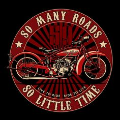 Vroom vroom let's ride! Motos Vintage, Vintage Bikes, Motorcycle Logo, Motorcycle Quotes, Midnight Rider, Banners, Biker Quotes, Harley Bikes, Vintage Metal Signs
