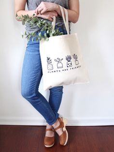 The Plants Are Friends Tote Bag