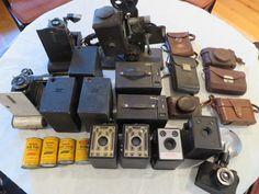 Vintage Kodak and Ansco cameras
