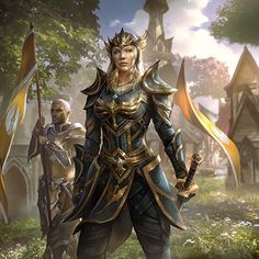 Fantasy Art Elder Scrolls Queen Ayrenn First Aldmeri Dominion Elf Female Warrior Soldier
