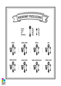 kuchenny przelicznik Kitchen Organisation, Organisation Hacks, Kitchen Art, Kitchen Hacks, Country Interior Design, Love Eat, Physical Activities, Food Design, Good Advice