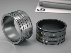 Rotating ring clock from Hungarian designer Gusztáv Szikszai's