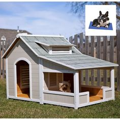 Thanks for finding these Chelsie!!!    My babies need this...Precision Outback Savannah Dog House with Porch with Cooling Bed