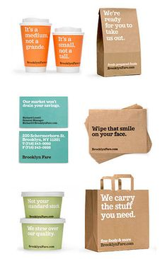 Packaging design by Mucca Design for Brooklyn Fare.