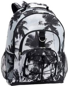 Gear-Up Black White Palms Backpack  Includes organized pockets Girls Rolling 3e81b0e3cc3a4