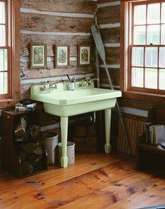 Harborview utility sink in Tea Green by KohlerCo, via Flickr