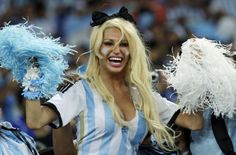 World Cup 2014 Argentina v Bosnia An Argentina supporter reacts before the group F World Cup soccer match between Argentina and Bosnia at the Maracana Stadium in Rio de Janeiro, Brazil, Sunday, June 15, 2014.