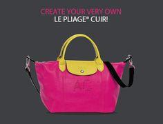 Longchamp ... Personalize your LE Pliage Cuir