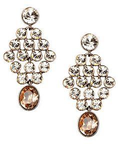 Givenchy Earrings, Silk Glass Chandelier Earrings - Fashion Jewelry - Jewelry & Watches - Macy's