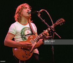 Photo of Joe WALSH and EAGLES, Joe Walsh, performing live onstage, playing Gibson Les Paul guitar Get premium, high resolution news photos at Getty Images Joe Walsh Eagles, Life's Been Good, Bernie Leadon, Randy Meisner, Eagles Band, Les Paul Guitars, Gibson Guitars, American Music Awards, Guitar Design