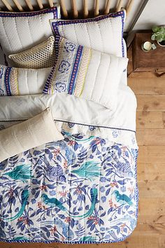 Find the bedding of your dreams at Anthropologie. Shop unique bohemian bedding, textured and feminine styles. Twin Bed Linen, Beige Bed Linen, Luxury Bedding Collections, Luxury Bedding Sets, Linen Pillows, Linen Bedding, Bed Linens, Boho Pillows, Cotton Bedding