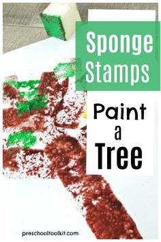 Paint a tree with sponge stamps in this fun activity for spring and summer. Add a bird nest to the tree to complete the spring picture. Support kids creative play with this fine motor painting activity for preschoolers. Spring Theme, Spring Sign, Creative Skills, Creative Play, Bird Nest Craft, Painting Activities, Spring Pictures, Craft Materials, Spring Crafts