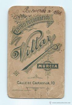 Fotografía antigua: RETRATO. NIÑO. CENTRO FOTOGRÁFICO VILLAR. CALLE DE LA CARAVIJA, 10. MURCIA. 6,3 X 10,4 CMS. - Foto 2 - 53949258