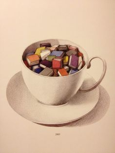 A good old cup of books -- illustrator unknown
