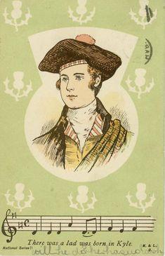 Robert Burns - Postcard - Postmarked West Hartlepool - Jan 28,1904