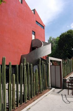 The Diego Rivera/Frida Khalo house. Designed by Mexican architect and artist, Juan O'Gorman, the final project consisted of two studio/houses (one for Diego and one for Frida) joined by a bridge.
