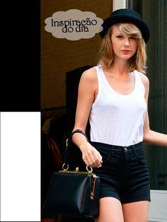 Inspiração do Dia: Look Básico da Taylor Swift    por Mainá  Belli | Virou Tendência       - http://modatrade.com.br/inspira-o-do-dia-look-b-sico-da-taylor-swift