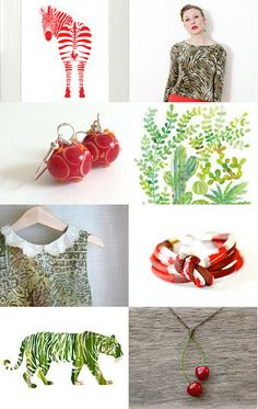 Summer in the Jungle by madlyvintage on Etsy--Pinned with TreasuryPin.com