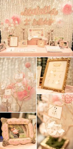 A Glam Gold and Pink First Birthday Party
