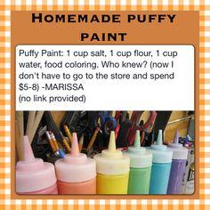 Homemade Puff Paint