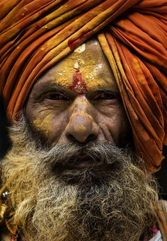 Sadhu in Pune, India. people photography, world people, faces