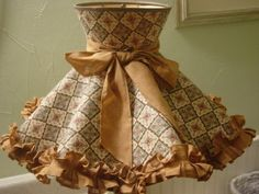 Vintage Early American 60s Lamp Shade Ruffled.