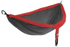 #Hammock #Camping #outdoors ENO Doublenest Hammock Gray and Red!