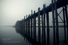 U Bein bridge by atipanit  sky water travel light bridge myanmar atipanit