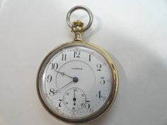 Antique 1906  Illinois 17 Jewel Pocket Watch 16 Size 50mm Running by KayesVintageJewelry on Etsy