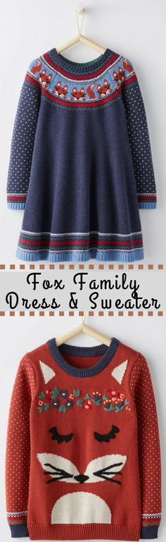 ON SALE! Adorable Fox Family Dress & Sweater #onsale #hannaandersson #fox #winter #toddler #winterstyle #winterdress #wintersweater #toddlerdress #toddlersweater #affiliate Toddler Sweater, Toddler Dress, Toddler Girl Style, Winter Sweaters, Autumn Inspiration, Winter Dresses, New Baby Gifts, Boss Babe, Clothing Items