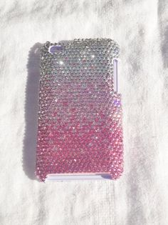 Pink Ombre Gradient Swarovski Style Crystal Bling  iTouch 4th Generation Case Cover. $30.00, via Etsy.