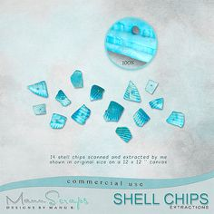 CU Shell Chips | CU/Commercial Use #digital #scrapbook design tools at CUDigitals.com #digitalscrapbooking