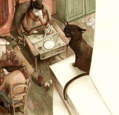 made by: Daniela Volpari , illustration - (Black cat)