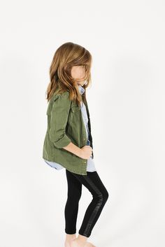 Cute casual little girl outfit