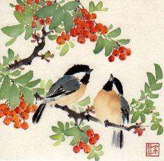 """Afternoon Treat"" - Original Fine Art for Sale - © Jinghua Gao Dalia"