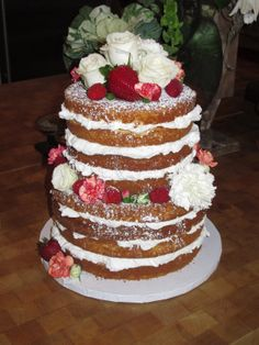 Naked wedding cake | Whipple Scrumptious: The Naked Cake....