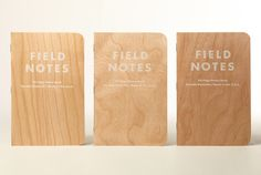 The Field Notes Shelterwood Edition, Notebooks with Real Wood Veneer Covers