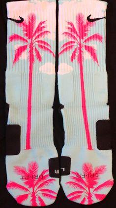 Lebron 11 South Beach Custom Nike Elites by TheSickestSocks, $35.99