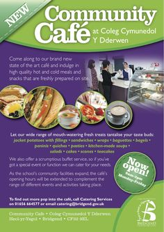 Leaflet designed for local council #design #leaflet #graphic #cafe #bridgend #english