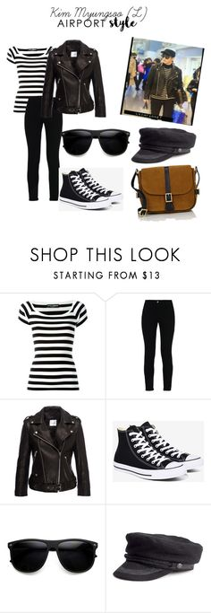 """""""Kim Myungsoo (L) airport style"""" by gemmafaithfortunato ❤ liked on Polyvore featuring Dolce&Gabbana, STELLA McCARTNEY, Anine Bing, Converse, Yves Saint Laurent, GetTheLook and airportstyle"""