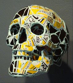 mosaic tile skull