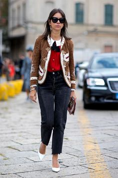 A pop of red does wonders for an otherwise neutral look.