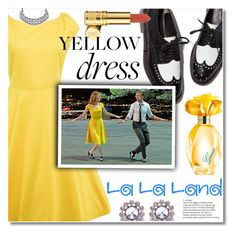 """""""In La La Land: Yellow Dresses"""" by fshionme ❤ liked on Polyvore featuring Elizabeth Arden, GUESS and yellowdress"""